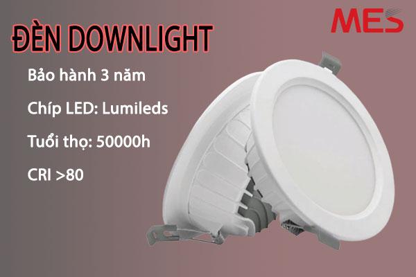 Đèn led downlight cao cấp MES phù hợp với nhu cầu người Việt