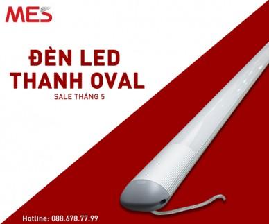 Đèn led thanh trụ oval chất lượng cao