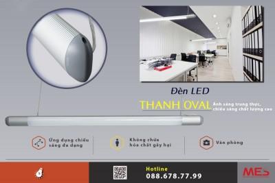Đèn led thanh nhôm OVAL siêu sáng nâng tầm vẻ đẹp văn phòng