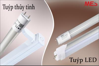 Đèn tuýp thủy tinh và tuýp LED nhôm nhựa có gì khác nhau?