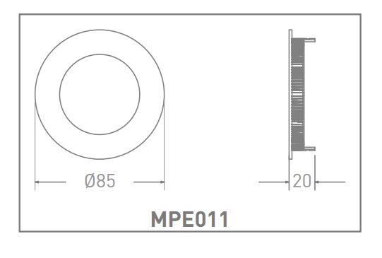 Đèn LED Slim Panel 6W Tròn  </br>MPE012