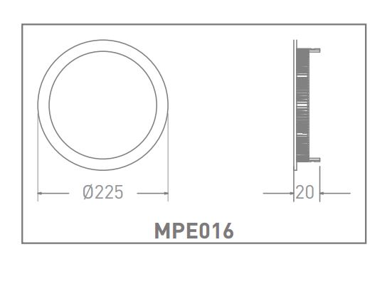 LED ROUND SLIM PANEL MPE016 18W