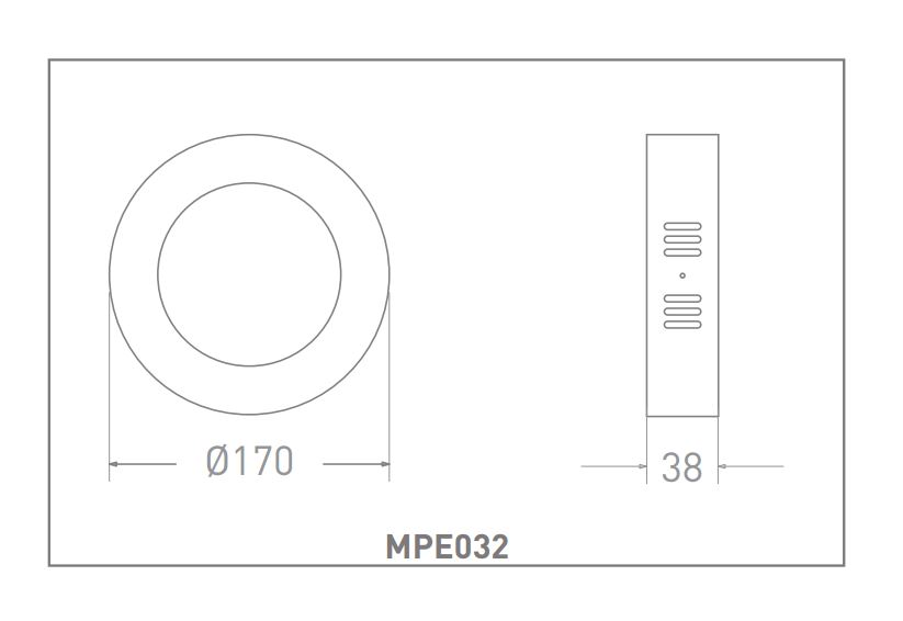 LED SURFACE MOUNT MPL032 12W